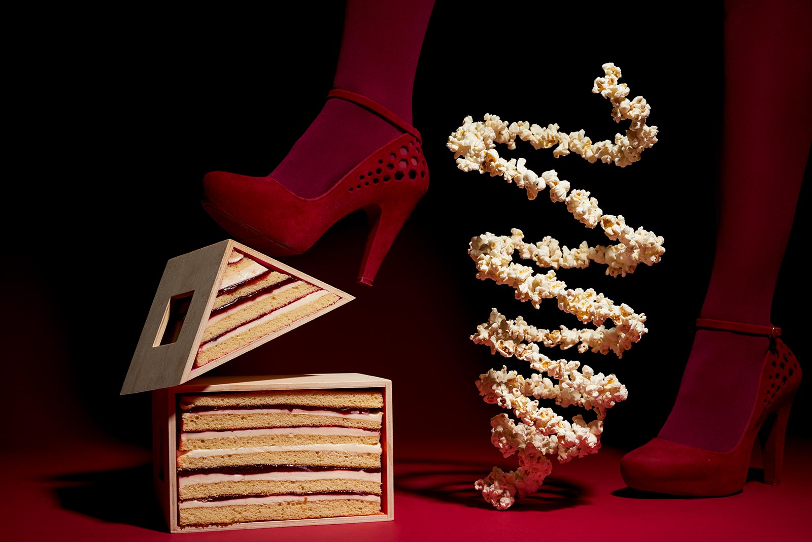 red shoes and tramezzino Claudia ficca food stylist Fuorizona food agency
